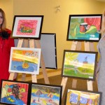 Kateryna Magas and Irena Makeeva at the Children's Art Show. 2013