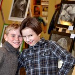 Children's Art show. 2013.   Serege & Illya.