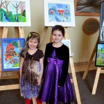 Milana and Dayana, young artists, at the Children's Art Show. 2013