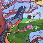 Dasha. Spring Bird. Gouache. 2013