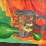 Anna Klink.  Still Life. Khokhloma Painting. 2013