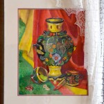 Vita Vusochina. Art Classes. Still Life. Khokhloma Painting. Samovar. 2013