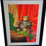 Iryna Pavlova.  Art Classes. Still Life. Khokhloma Painting. Samovar. 2013