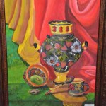 Liza Makarova. Art Classes. Still Life. Khokhloma Painting. Samovar. 2013