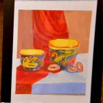 Velya Merkulova. Art Classes. Still Life. Khokhloma Painting. 2013