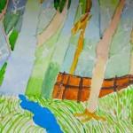 Sayan. Watercolor. Trees. 2013