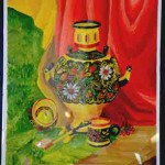 Madina Shaykhytdinova. Art Classes. Still Life. Khokhloma Painting. Samovar. 2013