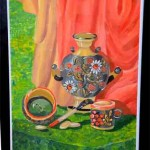 Velya Merkulova. Art Classes. Still Life. Khokhloma Painting. Samovar. 2013