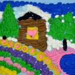Kira. Plasticine landscape. 2014